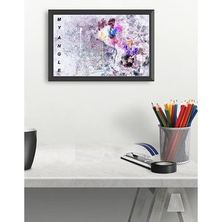 Beautiful abstrct small (18x12 inch) poster for Love