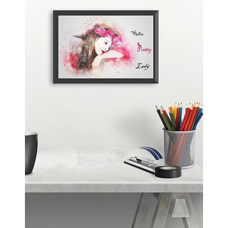 Pretty lady small (18x12 inch)  poster for beautiful love