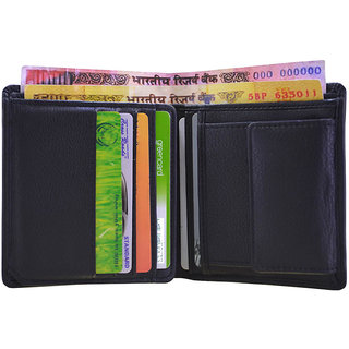 arpera Black Genuine Leather Mens Multi Currencies Travel Wallet-C11512-1 (Synthetic leather/Rexine)