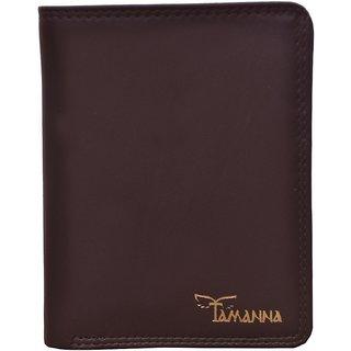 Tamanna Men Brown Genuine Leather Wallet  (9 Card Slots)