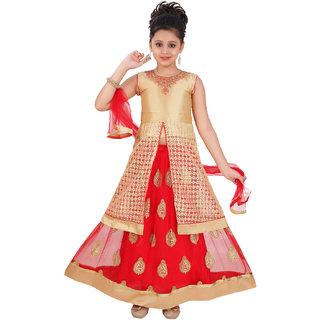 Saarah Red Lehenga Choli Set For Girls