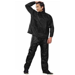 Almos Black men's Rain Coat  -XXL
