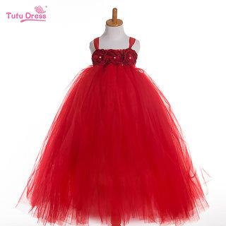a9da60dc3cc1 Buy S-Art Fashion Baby Girls Long Net Dress Gown  Frock Ball Gown ...