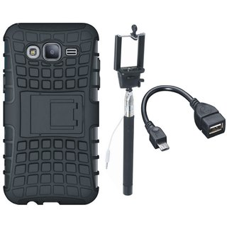 Redmi A1 Shockproof Tough Armour Defender Case with Selfie Stick and OTG Cable