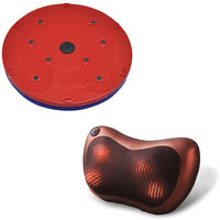 DEEMARK Combo Of  Pillow Massager  With  Twister Slimme