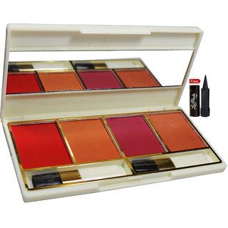 Glam21 4-Glorious Colour Blusher B35-02 With Free LaPerla Kajal