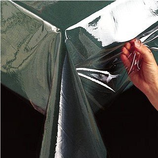 Transparent Clear Dining Table Cover Cloth Tablecloth Waterproof Protector,6090 Inches, Rectangle  without laced edges