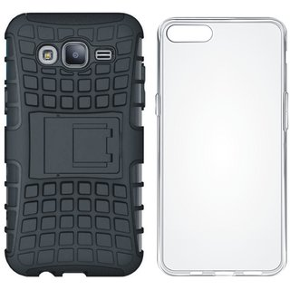 Oppo F3 Plus Defender Tough Armour Shockproof Cover with Silicon Back Cover, Free Silicon Back Cover