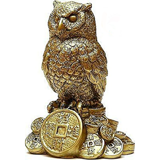 FengShui Owl for Good Health, Wealth  Prosperity  Home Decorative  Paper Weight