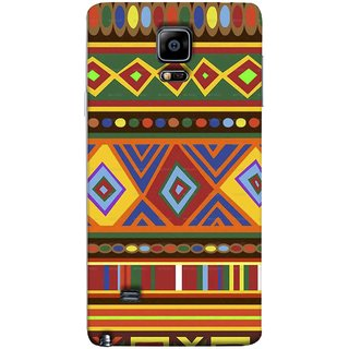 FUSON Designer Back Case Cover for Samsung Galaxy Note 4 :: Samsung Galaxy Note 4 N910G :: Samsung Galaxy Note 4 N910F N910K/N910L/N910S N910C N910Fd N910Fq N910H N910G N910U N910W8 (Tribal Patterns Colourful Eye Catching Verity Different )