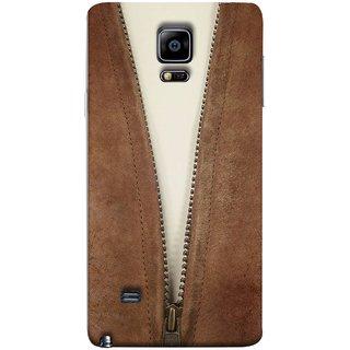 FUSON Designer Back Case Cover for Samsung Galaxy Note 4 :: Samsung Galaxy Note 4 N910G :: Samsung Galaxy Note 4 N910F N910K/N910L/N910S N910C N910Fd N910Fq N910H N910G N910U N910W8 (Biker Man Zip White T Shirt Best Wallpaper Designs)