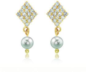 Stri Fashion Gold Plated Austrian Diamond Multi Drops For Women