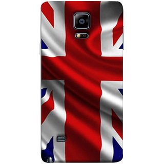 FUSON Designer Back Case Cover for Samsung Galaxy Note 4 :: Samsung Galaxy Note 4 N910G :: Samsung Galaxy Note 4 N910F N910K/N910L/N910S N910C N910Fd N910Fq N910H N910G N910U N910W8 (United Kingdom England Flag Embroidered Red Blue )