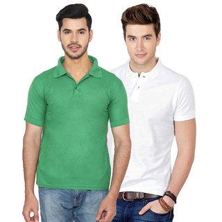 fc9beb208f Buy Ansh Fashion Wear Men S Cotton Blend Polo T-Shirt Pack Of 2 ...