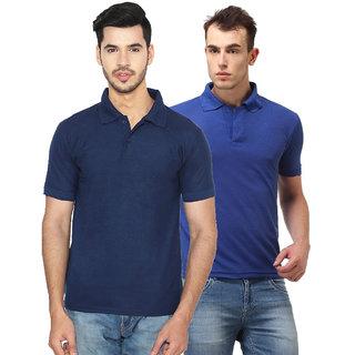 Ansh Fashion Wear Men'S Cotton Blend Polo T-Shirt Pack Of 2