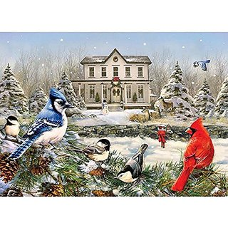 Outset Media Cobble Hill  Country House Birds  1000 Piece