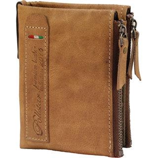 POLLSTAR Button Bi-Fold Horse Leather Short Purse (WL53TN)