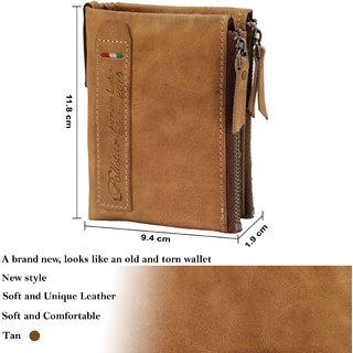 POLLSTAR Durable Men's Premium Leather wallet (WL53TN)