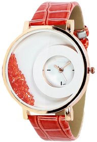 FAP Analog Crystal Inside Red Colour Fancy Womens Watch