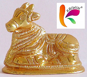 Nandi (Bull) Statue( 4 X 2 X 4 cms) / Handmade murti handicrafts / Unique for gift and home and office decoration and te