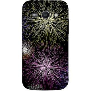 FUSON Designer Back Case Cover for Samsung Galaxy Ace 3 :: Samsung Galaxy Ace 3 S7272 Duos  :: Samsung Galaxy Ace 3 3G S7270 :: Samsung Galaxy Ace 3 Lte S7275 (Dark Night Fireworks Diwali Dipawali Flowers )
