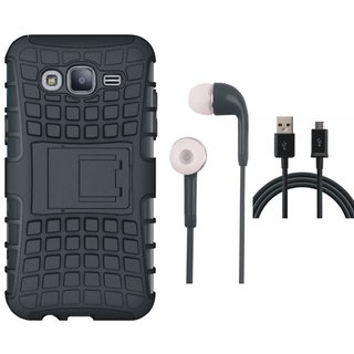 Oppo A71 Shockproof Tough Defender Cover with Earphones and USB Cable
