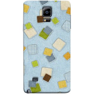 FUSON Designer Back Case Cover for Samsung Galaxy Note Edge :: Samsung Galaxy Note Edge N915Fy N915A N915T N915K/N915L/N915S N915G N915D (Lot Colours Squares Patch Tiles Brown White Checks )