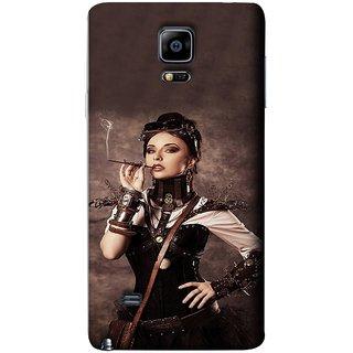 FUSON Designer Back Case Cover for Samsung Galaxy Note Edge :: Samsung Galaxy Note Edge N915Fy N915A N915T N915K/N915L/N915S N915G N915D (Mad Men Beauty Moments Betty Draper Smoking )