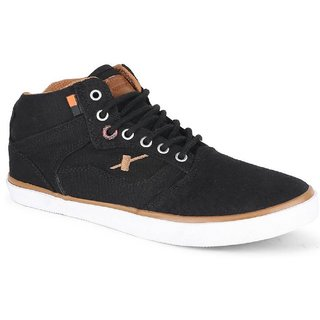 Sparx Mens 100 Percent original SM-282 Black Tan Casual Canvas Sneakers Shoes