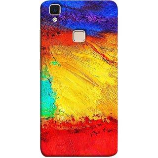 FUSON Designer Back Case Cover for Vivo V3 (Colour Canvas For Hall Bedroom Painting Intresting Lot)