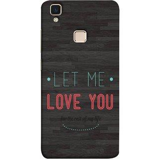 FUSON Designer Back Case Cover for Vivo V3 (For Rest Of My Life Pink Big Smiling Couples )