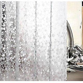 Khushi Creations 3D Coin Design Waterproof Shower Curtain Bathroom (Width-52Inches X Height-82Inches) 7 Feet
