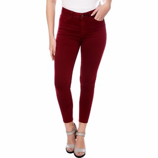 Kotty Women's Red Denim Jeans