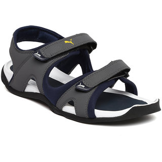 Buy Puma Men Grey Navy Jimmy Sports Sandals Online   ₹2999 from ... ca5f7f0a4