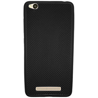 Just Click Back Cover 4A Net Jali (Black, Rubber)