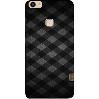 FUSON Designer Back Case Cover for Vivo V3Max (Geometric Wallpaper Art Print Black And White )