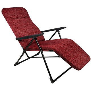 Grand Recliner Chair - Easy Push Back for Relax - Deluxe - Red Circle
