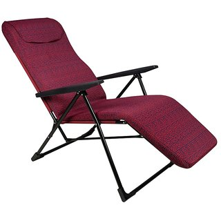 Grand Relax Recliner Chair - Available in 5 Adjustable Positions - Deluxe - Floral Red