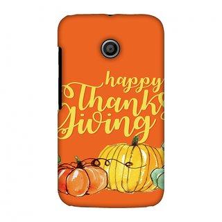 Motorola Moto E XT1022 Thanksgiving Designer Case Pumpkin Pattern for Motorola Moto E XT1022