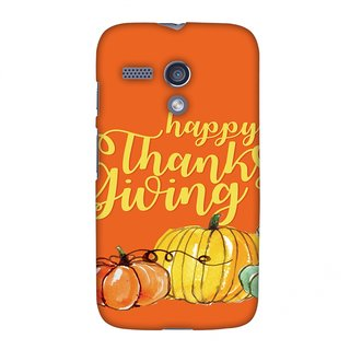 Motorola Moto G XT1032 Thanksgiving Designer Case Pumpkin Pattern for Motorola Moto G XT1032