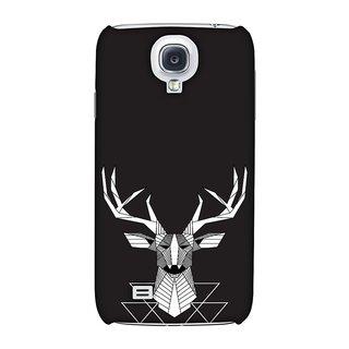 Samsung GALAXY S4 GT-I9500 Designer Case Geometric Deer for Samsung GALAXY S4 GT-I9500