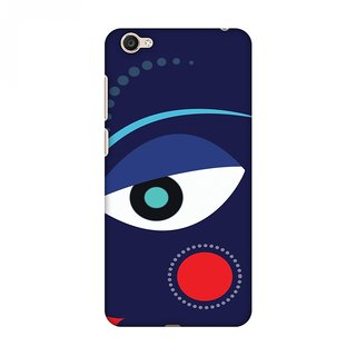 Vivo Y55 Durga Puja Designer Cases Divine Goddess Blue for Vivo Y55