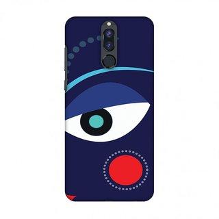 Huawei Honor 9i Durga Puja Designer Cases Divine Goddess Blue for Huawei Honor 9i