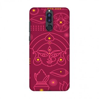 Huawei Honor 9i Durga Puja Designer Cases Divine Goddess Red for Huawei Honor 9i