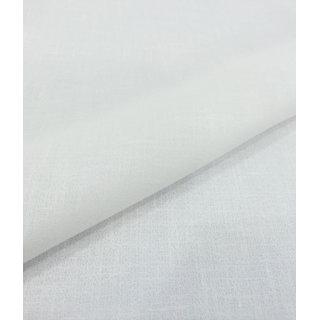 Madaan Fashions White Unstitched Semi Linen 2.5m Shirt Fabric