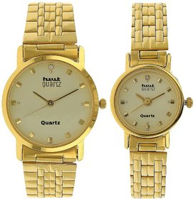 HWT Gold Plated Couple Watches