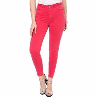Kotty Women's Pink Denim Jeans