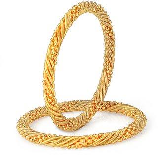 Shostopper Traditonal Gold Plated Bangle Set For Women