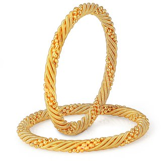 Shostopper Traditonal Gold Plated Bangle Set For Women