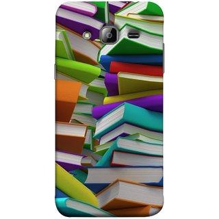FUSON Designer Back Case Cover for Samsung Galaxy On5 Pro (2015) :: Samsung Galaxy On 5 Pro (2015) (Stack Of Colorful Books White Pages School)